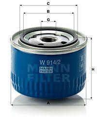 MANN-FILTER Hydraulische filter, automatische transmissie (W 914/2)