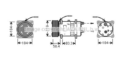 AVA QUALITY COOLING Compressor, airconditioning (UVAK058)