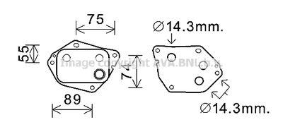 AVA QUALITY COOLING Oliekoeler, motorolie (HY3288)