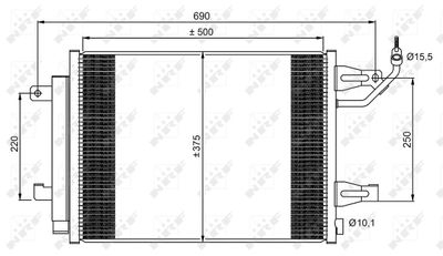 NRF Condensor, airconditioning EASY FIT (350073)
