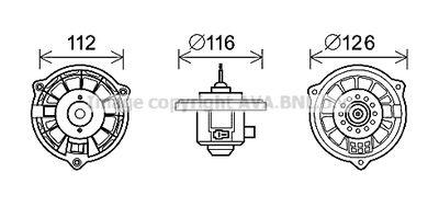 AVA QUALITY COOLING Elektrische motor, Interieurventilatie (HY8409)