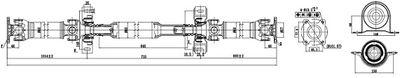 SERCORE Aandrijfas, asaandrijving (32100A)