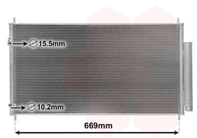 VAN WEZEL Condensor, airconditioning (25005290)
