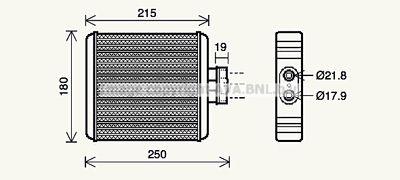 AVA QUALITY COOLING Kachelradiateur, interieurverwarming (VN6196)