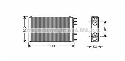 AVA QUALITY COOLING Kachelradiateur, interieurverwarming (LA6019)