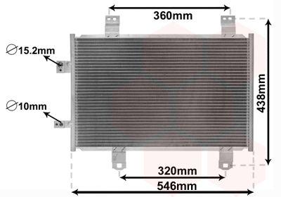 VAN WEZEL Condensor, airconditioning (27015702)