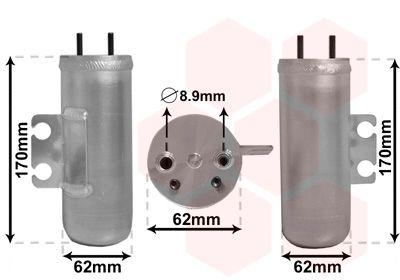 VAN WEZEL Droger, airconditioning (4000D020)