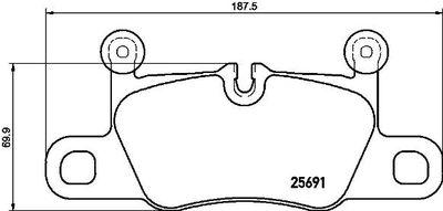 BREMBO Remblokkenset, schijfrem (P 65 031)