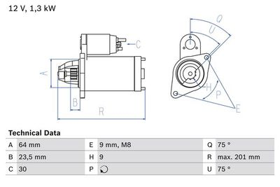BOSCH Startmotor / Starter (0 986 024 200)