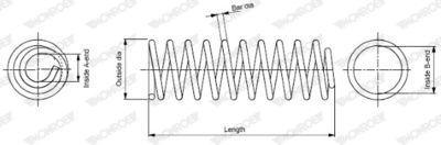MONROE Chassisveer MONROE OESpectrum SPRINGS (SP2433)