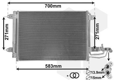VAN WEZEL Condensor, airconditioning *** IR PLUS *** (58005209)