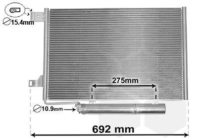 VAN WEZEL Condensor, airconditioning (30015386)