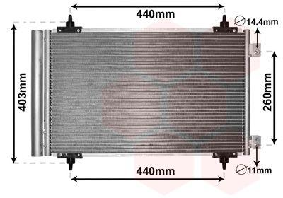 VAN WEZEL Condensor, airconditioning (09005263)