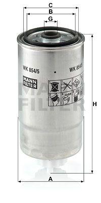 MANN-FILTER Brandstoffilter (WK 854/5)
