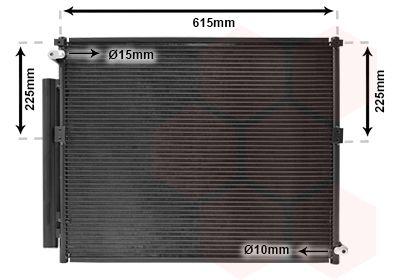 VAN WEZEL Condensor, airconditioning (53005569)