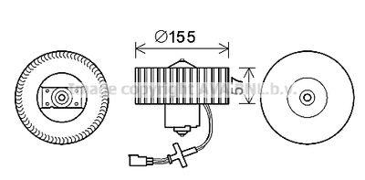 AVA QUALITY COOLING Elektrische motor, Interieurventilatie (FD8568)