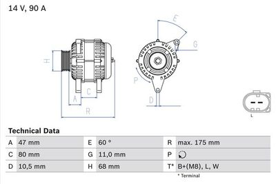 BOSCH Dynamo / Alternator (0 986 042 670)