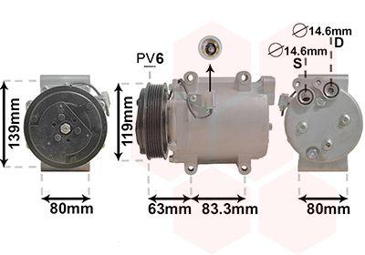 VAN WEZEL Compressor, airconditioning (5900K121)