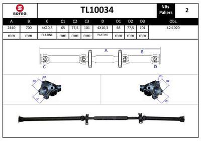 EAI Aandrijfas, asaandrijving (TL10034)