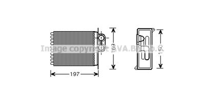 AVA QUALITY COOLING Kachelradiateur, interieurverwarming (MSA6400)