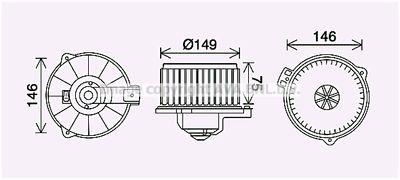 AVA QUALITY COOLING Elektrische motor, Interieurventilatie (TO8735)