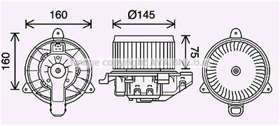 AVA QUALITY COOLING Elektrische motor, Interieurventilatie (FD8626)
