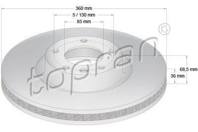 TOPRAN Hydraulische filter, automatische transmissie (408 516)