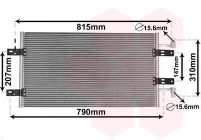 VAN WEZEL Condensor, airconditioning (43005451)