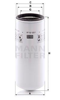 MANN-FILTER Oliefilter (WP 12 120/1)