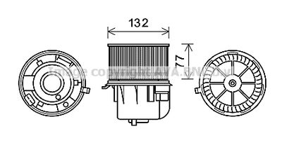 AVA QUALITY COOLING Elektrische motor, Interieurventilatie (FD8572)