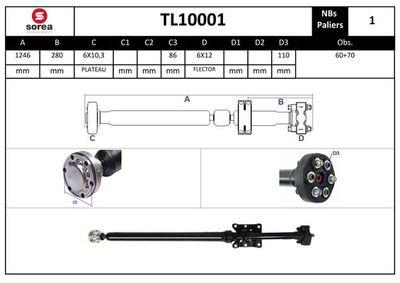 EAI Aandrijfas, asaandrijving (TL10001)