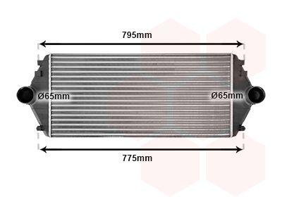 VAN WEZEL Intercooler, inlaatluchtkoeler (09004086)