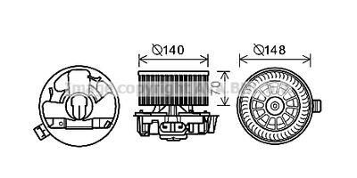 AVA QUALITY COOLING Elektrische motor, Interieurventilatie (DN8383)