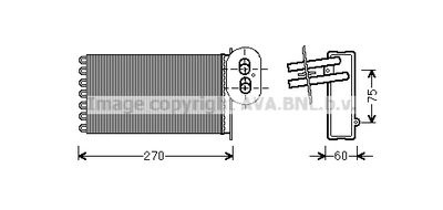 AVA QUALITY COOLING Kachelradiateur, interieurverwarming (VN6296)