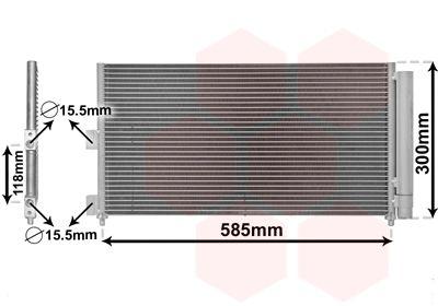 VAN WEZEL Condensor, airconditioning (17005289)