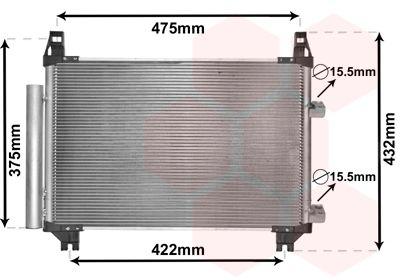 VAN WEZEL Condensor, airconditioning (53005404)