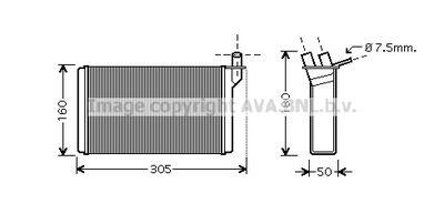 AVA QUALITY COOLING Kachelradiateur, interieurverwarming (LA6018)
