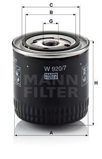 MANN-FILTER W 920/7 y