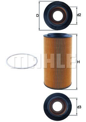 KNECHT Oliefilter (OX 561D)