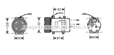 AVA QUALITY COOLING Compressor, airconditioning (VLAK030)