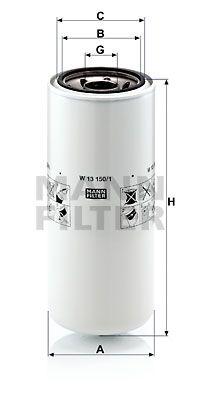 MANN-FILTER Oliefilter (W 13 150/1)