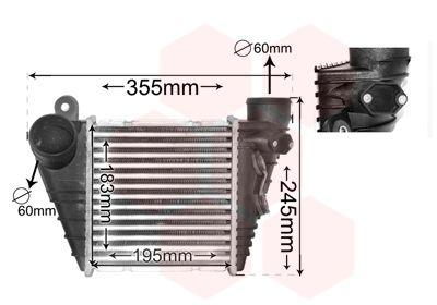VAN WEZEL Intercooler, inlaatluchtkoeler (03004172)