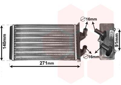 VAN WEZEL Kachelradiateur, interieurverwarming (17006186)