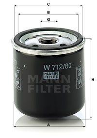 MANN-FILTER Oliefilter (W 712/80)