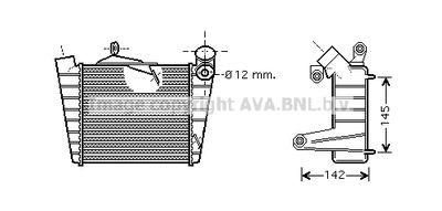 AVA QUALITY COOLING Intercooler, inlaatluchtkoeler (VNA4213)