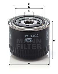MANN-FILTER Oliefilter (W 914/28)