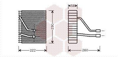 VAN WEZEL Verdamper, airconditioning (1800V330)