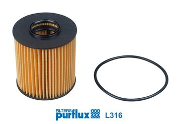 PURFLUX Oliefilter (L316)