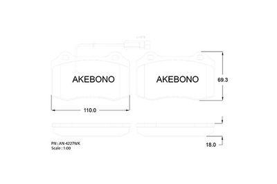 AKEBONO AN-4227WKE