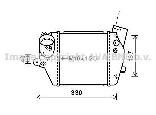 AVA QUALITY COOLING Intercooler, inlaatluchtkoeler (MZA4243)
